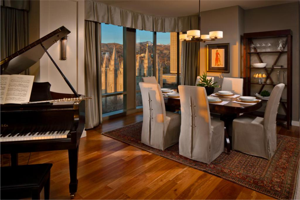 99 West Living Room in a City Creek Condo