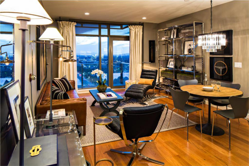 99 West Living Room at City Creek Condo