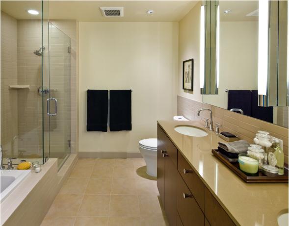 The Regent Bathrooms High Rise Condo Salt Lake