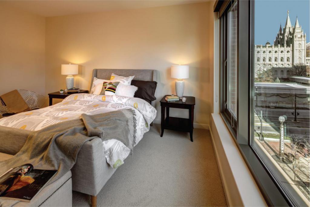 Richards Court Luxury Condo Salt Lake Bedrooms